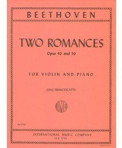 Beethoven Ludwig Two Romances Op. 40 and 50 Violin and Piano by Zino Francescatti - International